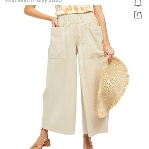 NWT Free People Cosmic Ways Wide Leg Pans Small